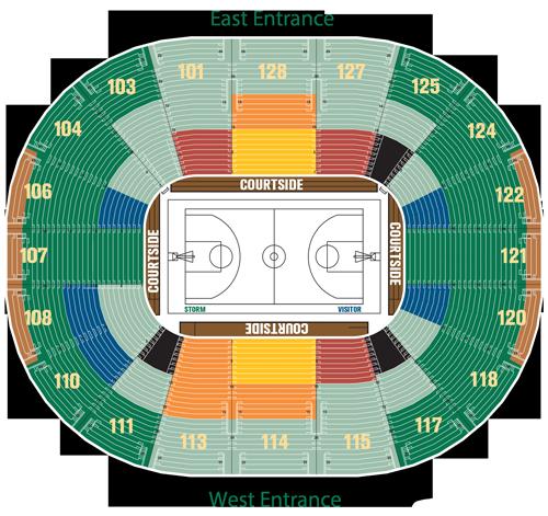 Lower Bowl Seating Map