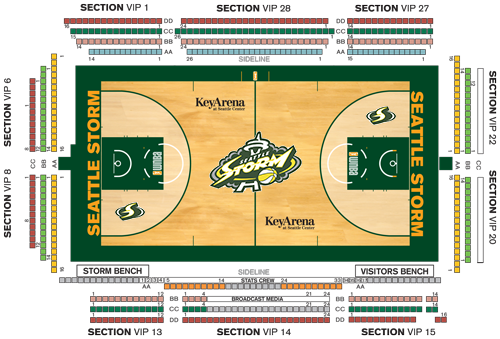 Courtside Seating Map