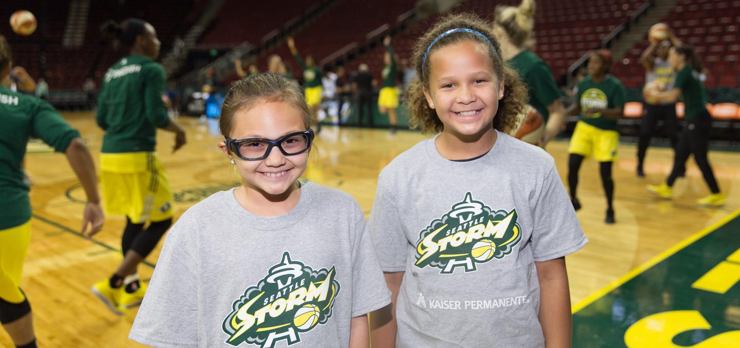 Kids at a Storm Game