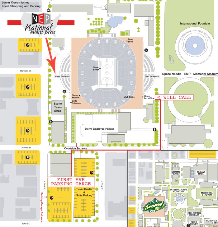 National Event Pros KeyArena Map