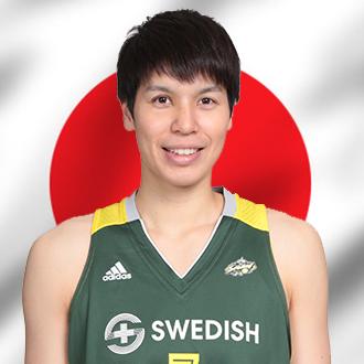 Ramu Tokashiki in front of Japanese flag