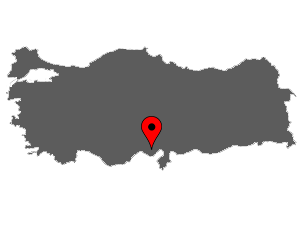 Map of Adana, Turkey