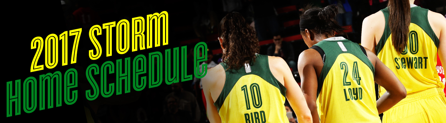 2017 Seattle Storm Home Schedule